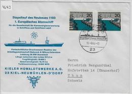 1964 Stapellauf Des Neubaues 1103 1. Europäisches Atomschiff - Kieler Howaldtswerke AG - Kiel-Gaarden 13.6.64 - Ships