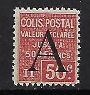 """FR Colis Postaux YT 84 """" Valeur Déclarée 50c. Rouge """" 1928 Neuf** - Paketmarken"""