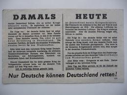 WWII WW2 Tract Flugblatt Propaganda Leaflet In German, PWE G Series/1943, G.95 Nur Deutsche Können Deutschland... Type I - Non Classificati