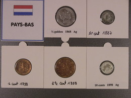 Lot PB1 : Pays-Bas : Beau Lot De 5 Pièces Du 19° Siècle (1868, 1887, 1898). - Netherlands