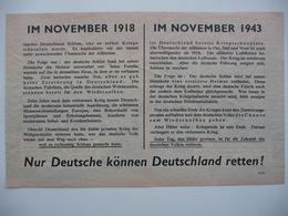 WWII WW2 Tract Flugblatt Propaganda Leaflet In German, PWE G Series/1943 G.95 Nur Deutsche Können Deutschland... Type II - Alte Papiere