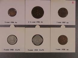 Lot PB2 : Très Beau Lot De 16 Pièces (dont 8 En Ag) Années 1906, 1907, 1908, 1923,1928, 1930, 1931, 1932. - [ 3] 1815-… : Royaume Des Pays-Bas