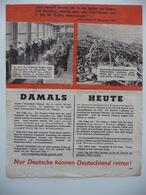 WWII WW2 Tract Flugblatt Propaganda Leaflet In German, PWE G Series/1943, G.96, Nur Deutsche Können Deutschland Retten! - Non Classificati