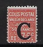 """FR Colis Postaux YT 112 """" Valeur Déclarée 75c. Rouge """" 1936 Neuf** - Paketmarken"""