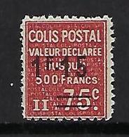 """FR Colis Postaux YT 150"""" Valeur Déclarée 1F15 Sur 75c. Rouge """" 1938 Neuf** - Paketmarken"""