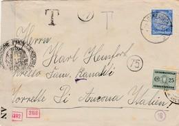 25 Pf On Cover Osnabrück To Italy 1941 - German And Italian Censor - Italian Taxe 25 Cent - Briefe U. Dokumente