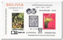 Bolivië 1974, Postfris MNH, Flowers, Orchids, Football - Bolivië