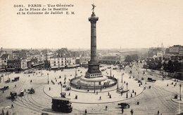 CPA PARIS - VUE GENERALE DE LA PLACE DE LA BASTILLE ET LA COLONNE DE JUILLET - Places, Squares