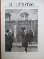 Period.1913 -  Joseph Caollaux  9 Rue De VALOIS à Paris  -  Grande PAGE 38 X 28 Cm - Documents Historiques