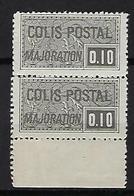 """FR Colis Postaux YT 155 Paire """" Majoration 10c. Noir """" 1938 Neuf** BDF - Paketmarken"""