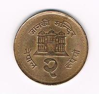 &  NEPAL  2 RUPEES  1994 ( 2051 ) - Nepal
