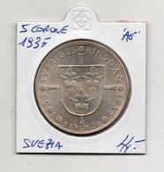 Svezia - 1935 - 5 Corone - Argento - Vedi Foto - (FDC9428) - Svezia