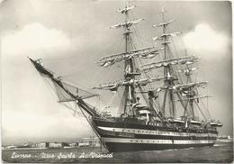 X1859 Livorno - Nave Scuola Amerigo Vespucci - Navi Ships Bateaux / Viaggiata 1957 - Livorno