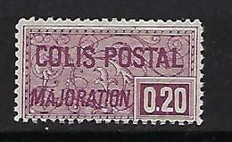 "FR Colis Postaux YT 158 "" Majoration 20c. Lilas "" 1938 Neuf** - Paketmarken"