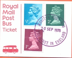 UK Ticket First Postbus Service Honiton Cancel Autobus Autocar Bus Postauto 1967 - Bus