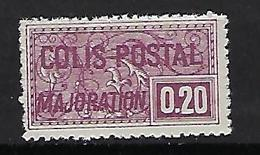 "FR Colis Postaux YT 159 "" Majoration 20c. Lilas "" 1938 Neuf** - Paketmarken"