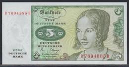 Deutschland 5 Mark 02.01.1980 UNC - [ 7] 1949-… : FRG - Fed. Rep. Of Germany