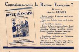 Connaissez-vous La Revue Française  ? Dépliant Format Cpa - Reclame