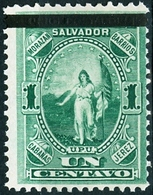 EL SALVADOR, FIGURE ALLEGORICHE, UPU, 1889, FRANCOBOLLI NUOVI (MLH*) Scott 23 - El Salvador