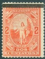 EL SALVADOR, FIGURE ALLEGORICHE, UPU, 1889, FRANCOBOLLI NUOVI (MLH*) Scott 24 EL SALVADOR 1889 FRANCOBOLLI NUOVI (MLH*) - El Salvador