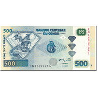 Billet, Congo Democratic Republic, 500 Francs, 2002, 2002-01-04, KM:96a, NEUF - Republic Of Congo (Congo-Brazzaville)