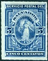 EL SALVADOR, FIGURE ALLEGORICHE, 1888, FRANCOBOLLI NUOVI (MLH*) YT 16   Scott 20 - El Salvador