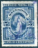 EL SALVADOR, FIGURE ALLEGORICHE, 1888, FRANCOBOLLI USATI YT 16   Scott 20 - El Salvador