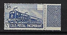 """FR Colis Postaux YT 182 """" Colis Encombrant SV Bleu """" 1941 Neuf** Bord De Feuille - Paketmarken"""