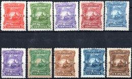EL SALVADOR, PAESAGGI, LANDSCAPES, 1891, FRANCOBOLLI NUOVI (MLH*), SET COMPLETO YT 36-45   Scott 47-56 - El Salvador