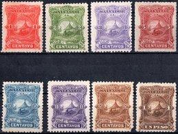 EL SALVADOR, PAESAGGI, LANDSCAPES, 1891, FRANCOBOLLI NUOVI (MLH*),  YT 36-45   Scott 47-56 - El Salvador