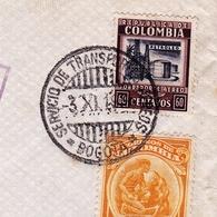Lettre 1934 Barranquilla Colombie Colombia Correo Aero Bogota Servicio De Transportes Aeros - Colombia