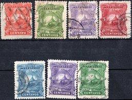 EL SALVADOR, PAESAGGI, LANDSCAPES, 1891, FRANCOBOLLI USATI,  YT 36-45   Scott 47-56 - El Salvador