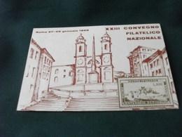 SALONE DELLE CONFERENZE STAZIONE TERMINI ROMA 1968 CONVEGNO FILATELICO REPUBBLICA ROMANA RAPPRESENTAZIONE - Borse E Saloni Del Collezionismo