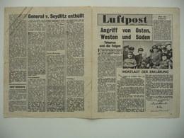 WWII WW2 Tract Flugblatt Propaganda Leaflet In German, PWE G Series/1943, G.102 Luftpost - Extrablatt, 17. Dezember 1943 - Non Classificati