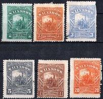 EL SALVADOR, COMMEMORATIVO, COLOMBO, 1892, FRANCOBOLLI NUOVI (MLH*),  YT 49-52,54,55   Scott 60-63,65,66 - El Salvador