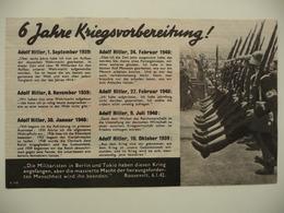 WWII WW2 Tract Flugblatt Propaganda Leaflet In German, PWE G Series/1943, G.103, 6 Jahre... Type I (13,5 X 23,5 Cm) - Non Classés