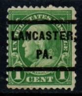 "USA Precancel Vorausentwertung Preo, Locals ""LANCASTER"" (PA). - United States"