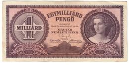 Hungary 1000000000 Pengo 1946 - Ungheria