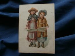 Chromo  A La Religieuse  Deuil  Paris   Deux Fillettes Lisant Un Journal  - L376 - Trade Cards