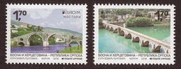 Bosnia Serbia 2018 Europa CEPT, Bridges Bruecken Ponts Architecture, Set MNH - 2018