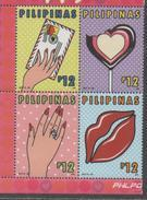 PHILIPPINES, 2017, MNH, VALENTINES DAY, SWEETS, RINGS,4v - Other