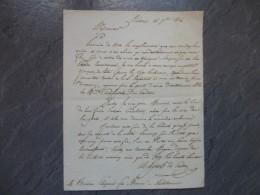 86 Poitiers 1826, Vicomte De Cressac, Lettre Autographe à Rivière, Avocat Châtellerault ; Ref 826VP 43 - Documenti Storici