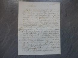 Poitiers 1826 Vicomte De Cressac, Let Autographe , à Découvrir ; Ref 822VP 43 - Autografi
