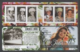 FRENCH POLYNESIA ,2017, MNH, MISS TAHITI, MISS TAHITIS OF TODAY AND THE PAST,  BOOKLET - Stamps