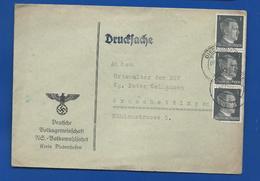 Enveloppe Avec Timbres Adolph Hitler      Oblitération:Diedenhoffen 3-12-1942 - Deutschland
