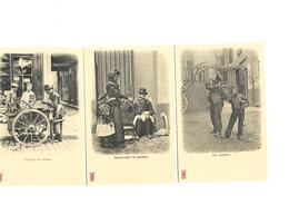 Carte Postale Paris (75) Petits Métiers Repro 3 Cartes 1euro Les 3 - Petits Métiers à Paris