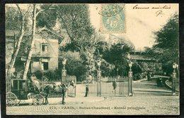 CPA - PARIS - Buttes Chaumont - L'Entrée Principale, Animé - Attelage  (dos Non Divisé) - Arrondissement: 19
