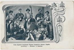 "Erste Agramer Croatische Original "" Tamburiza "" Damen Capelle "" Slavul "" Reberski Art Nouveau - Croatie"