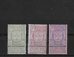 Belgique Yv. 68-70 (charnieres) - 1893-1907 Wappen