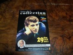 Carte Postale Du 13e Salon De La Collection à LA GARDE (83) Avec Johnny Hallyday En Photo+Jean-Marie Périer En Médaillon - Collector Fairs & Bourses